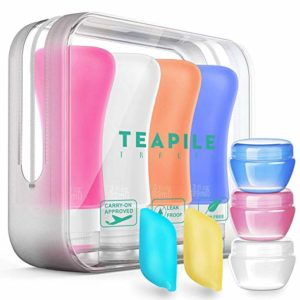9 Pack Travel Bottles TSA Approved Containers, 3oz Leak Proof Travel Accessories Toiletries