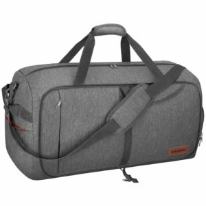 Canway 65L Travel Duffel Bag, Foldable Weekender Bag with Shoes Compartment