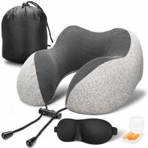 Travel Pillow 100% Pure Memory Foam Neck Pillow
