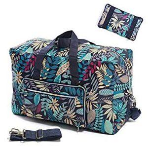 Foldable Travel Duffel Bag 50L Large Cute Floral Travel Bag