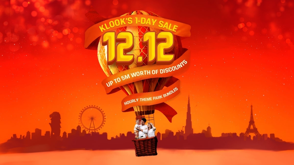 12.12 KLOOK Travel Sale Alert – Get travel deals and discounts during Klook's one-day only sale!