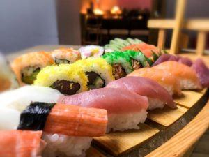 Relishing Kitsho's sumptuous sushi smorgasbord