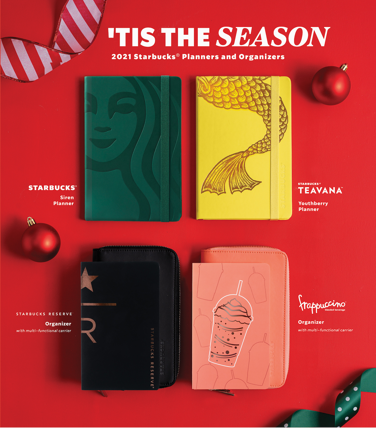 LOOK: The New Starbucks 2021 Planners And Travel Organizers Are Here