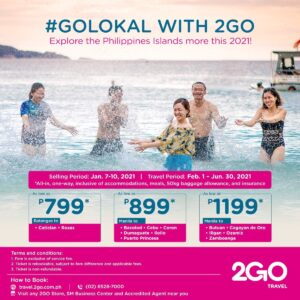 Let's #GOLokal This 2021! Sail To Top Summer Destinations Boracay, Coron, Cebu Starting At ?799 ALL-IN!