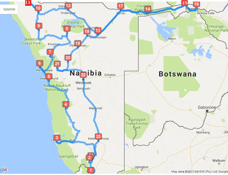 Our complete Namibia road trip itinerary