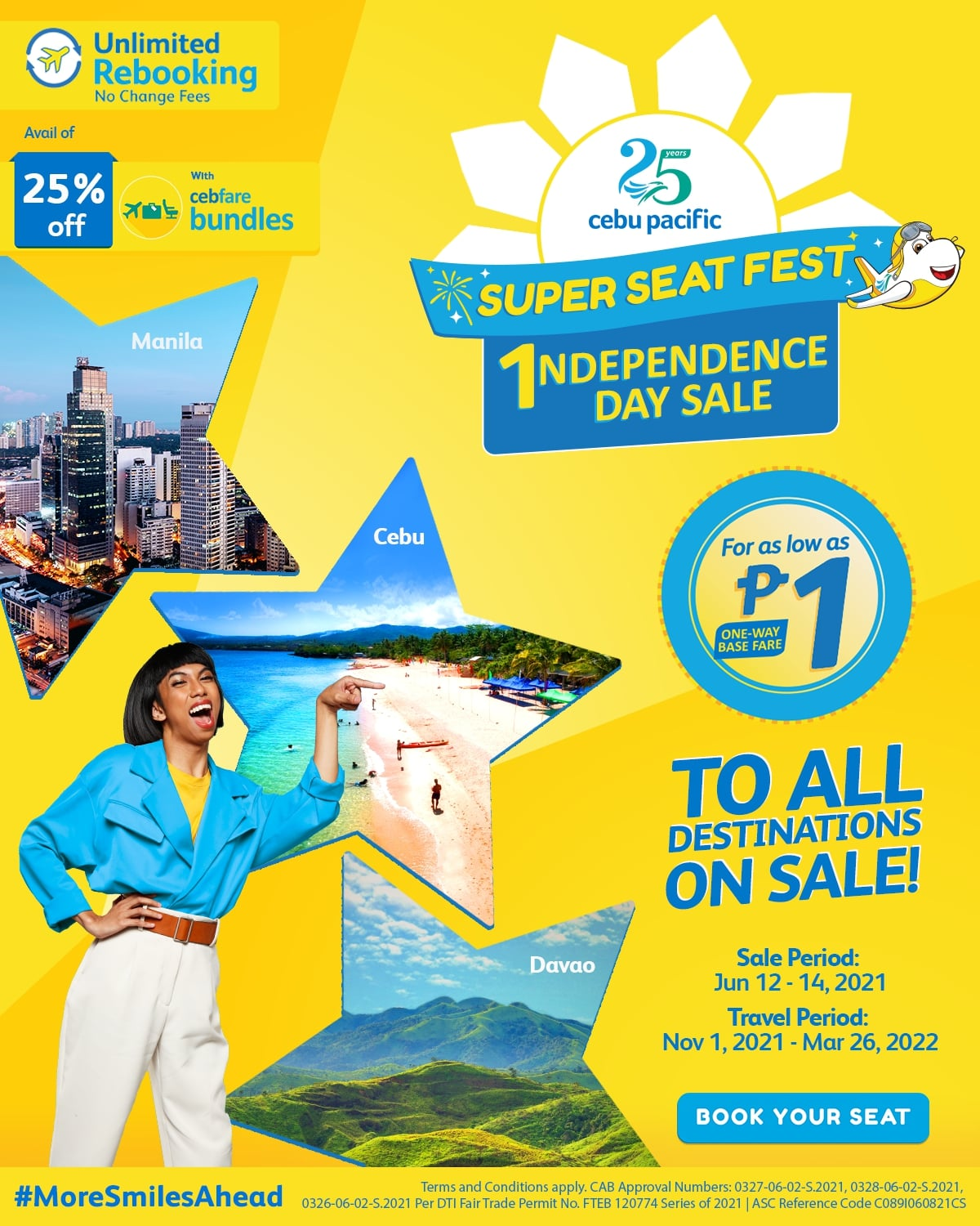 Cebu Pacific launches trademark PISO sale this 1ndependence day